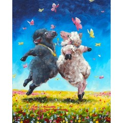 Sheep Incognito Original Paintings