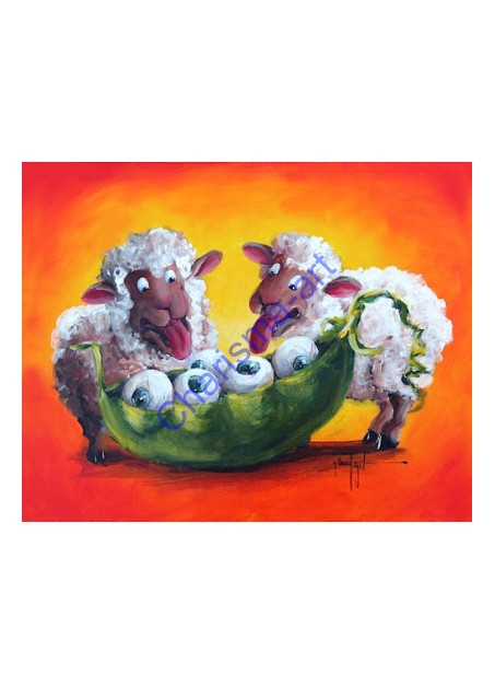 EyePod Sheep Art PRINT