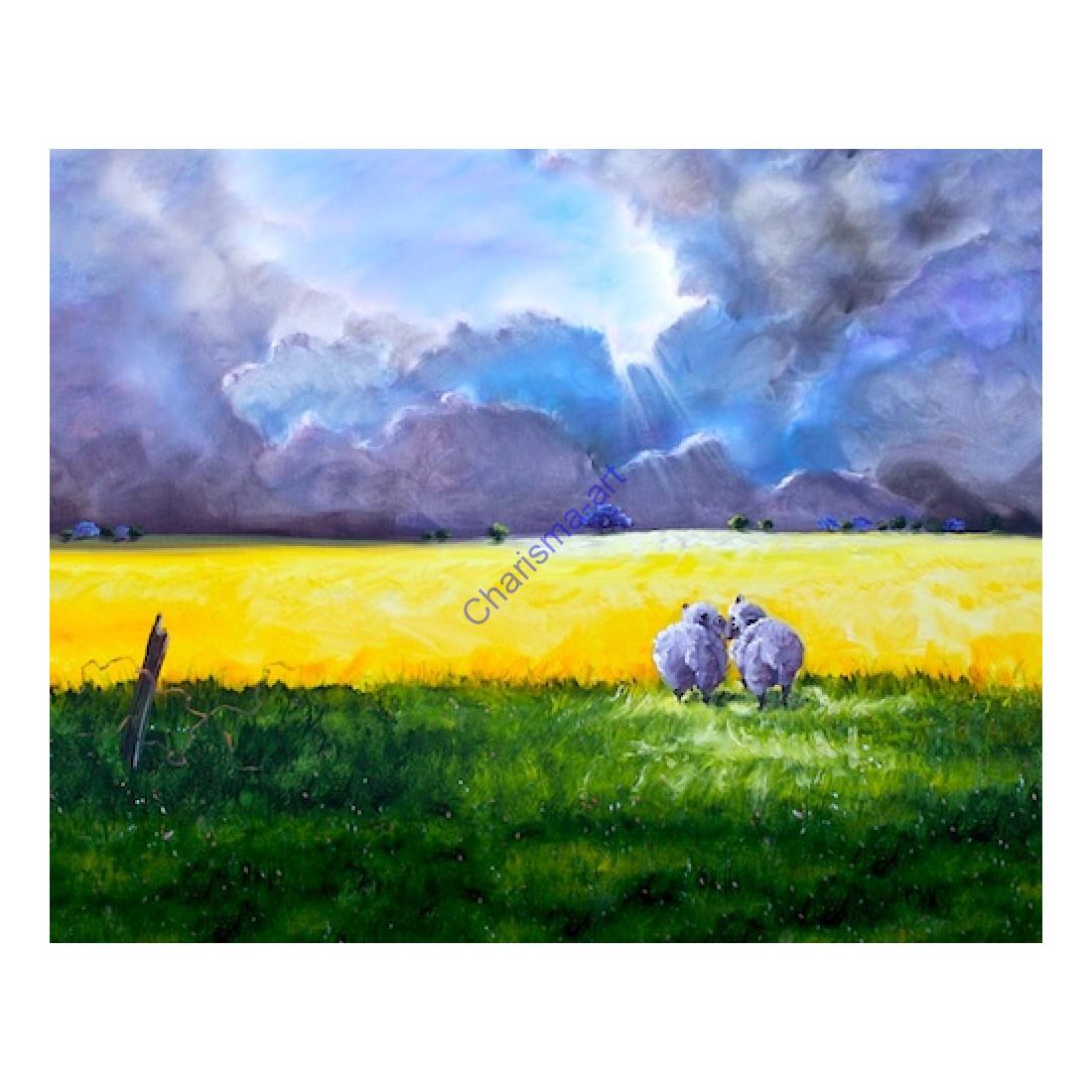 Love At First Sight Sheep Print