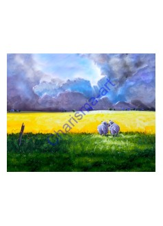 Love At first Sight Sheep Canvas PRINT