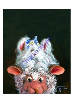 Hat Hare Sheep Incognito 5x7 Greeting Card -PDF