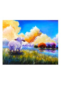 Beside Still Waters GICLEE CANVAS PRINT