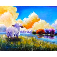 Religious Sheep Art