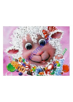 Candy Baaah Sheep Art Print