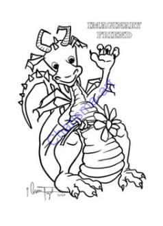 "Coloring Page Imaginary Friend Kids Version 8.5""x11""Digital Download"