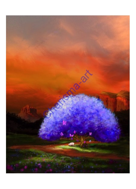 A Light In The Valley Original Digital Painting