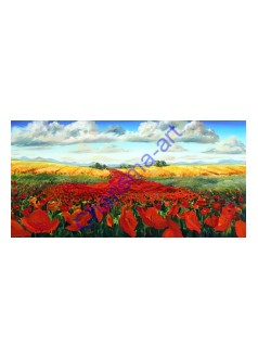 Corn Poppies Landscape PRINT