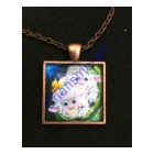 Little Bundle Of Boy Sheep Art Pendant Necklace
