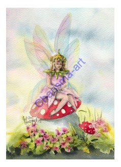 Sitting Pretty Fairy PRINT