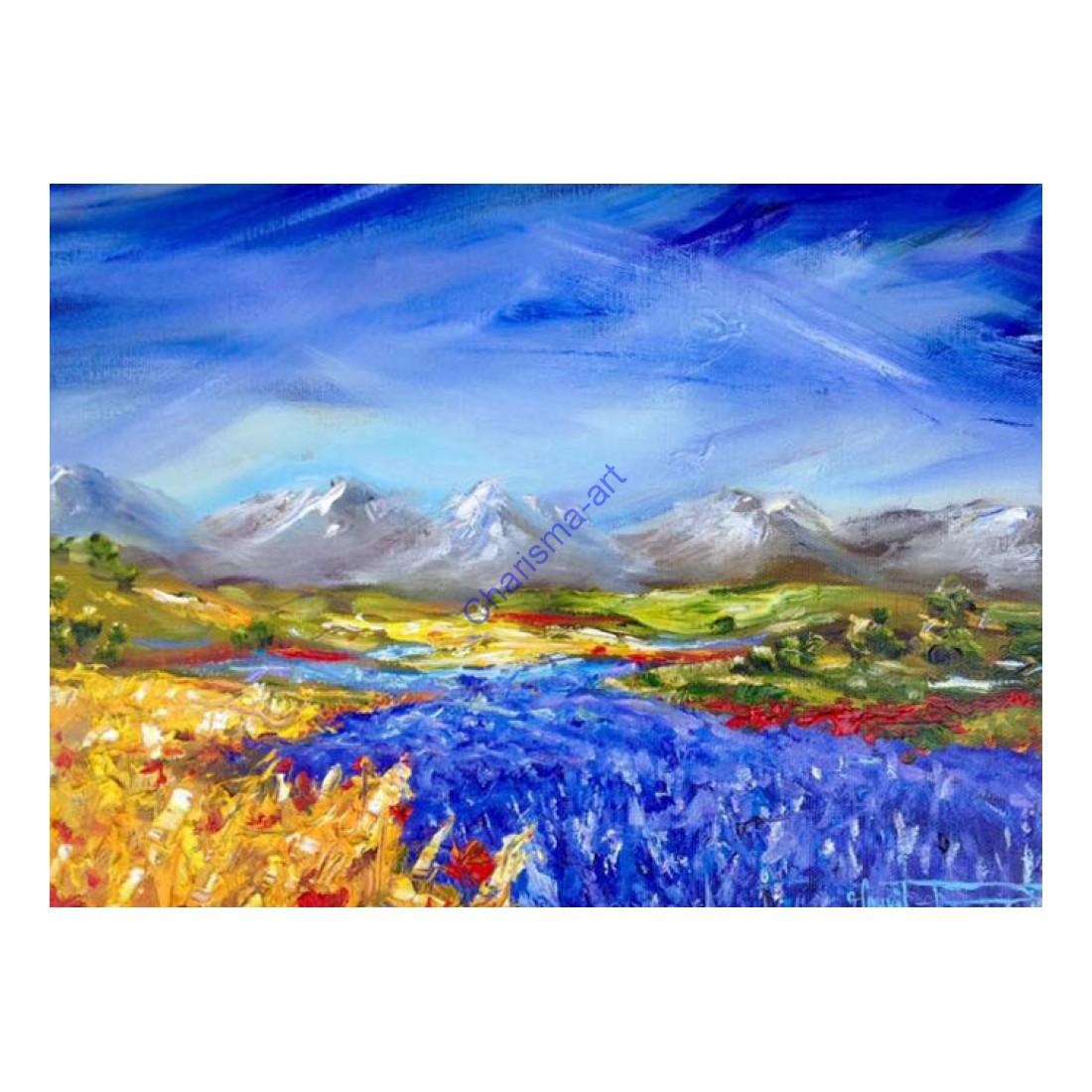 Lavender Gold Landscape Print