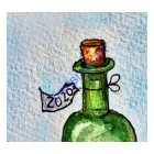 Vintage 2020 Wine Bottle PRINT
